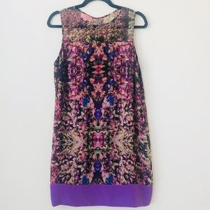 Ted Baker London Purple Abstract Shift Dress